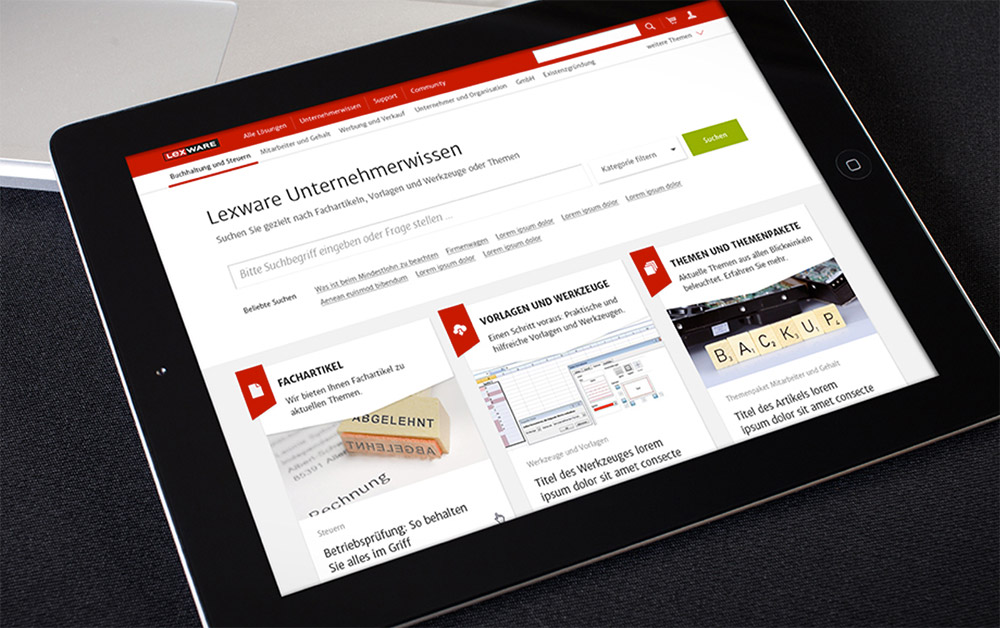 Haufe Lexware - Webseitenrelaunch