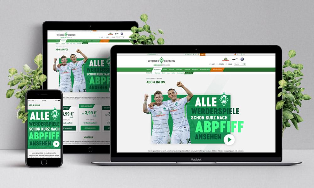 Webdesign - Werder Bremen TV Abo